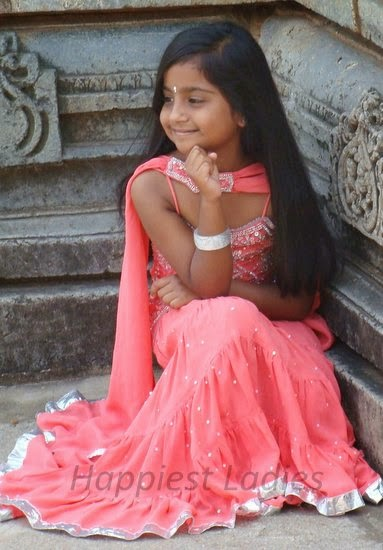 indian girl wearing lehenga