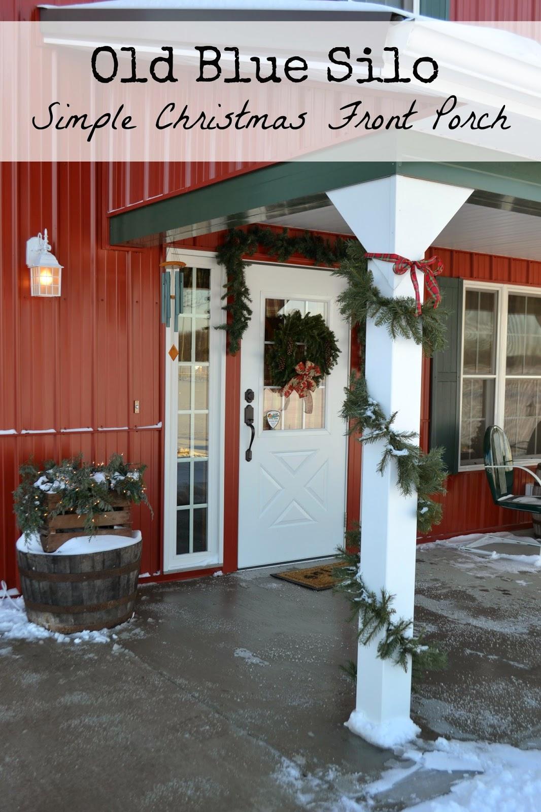 simple christmas porch