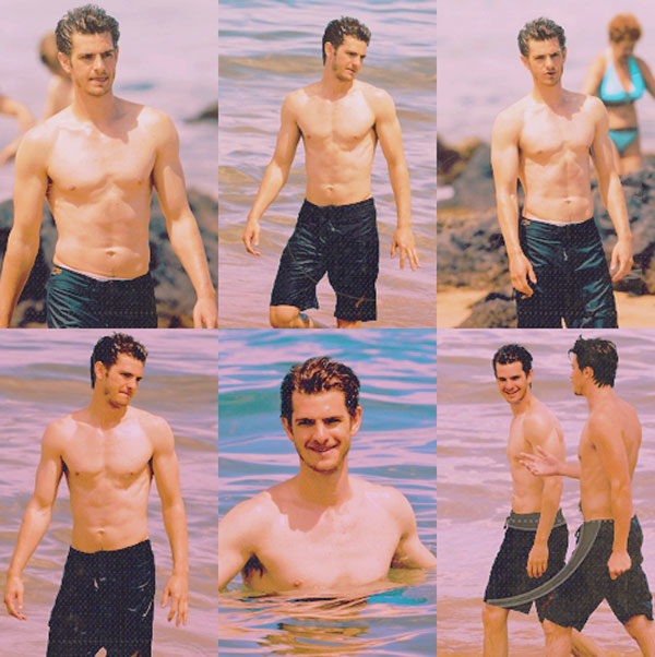 Shirtless andrew Spider man garfield