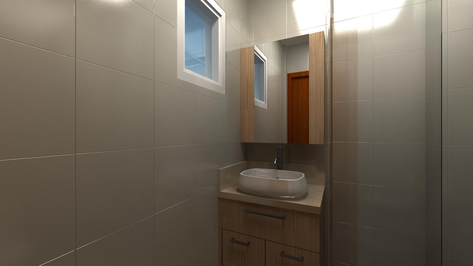 FORMA E CONCEITO ARQUITETURA: Apartamento em Ibirama 03 #496B82 1600x900 Banheiro Com Duas Portas