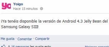 Actualización Samsung Galaxy S3 a Android 4.3 Jelly Bean