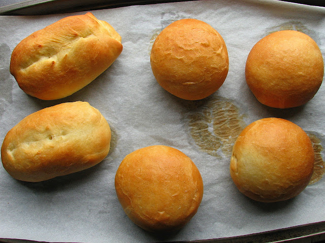 Golden and delicious, beautiful burger buns