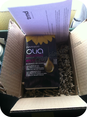 Paquete recibido desde Trnd con el producto y las instrucciones