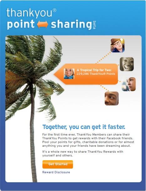 Share rewards points