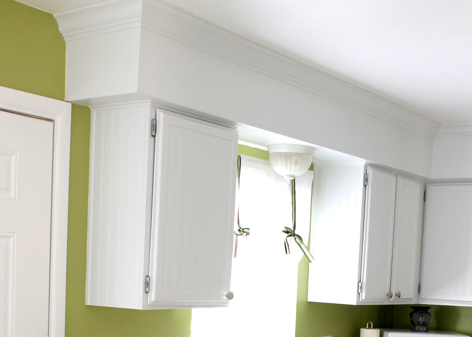 Kitchen Soffit with Crown Molding