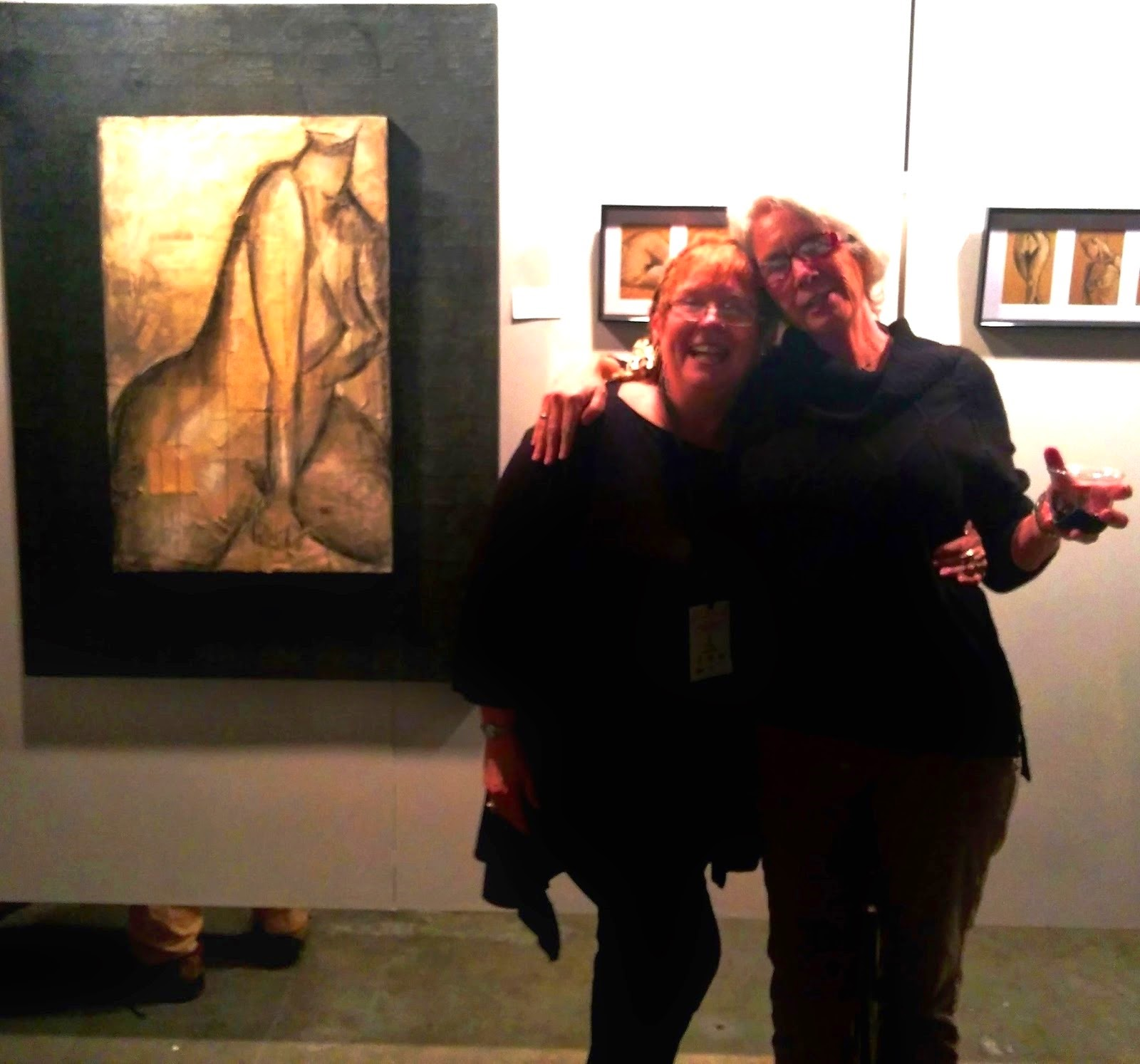 "Nude Nite 2015 with the ""Girls"" Both pieces sold...woo-hoo!"