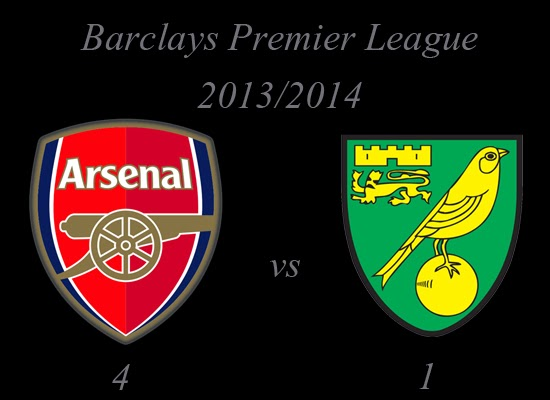 Arsenal vs Norwich City Barclays Premier League 2013