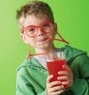 Image: Silly Straw Drinking eyeglasses
