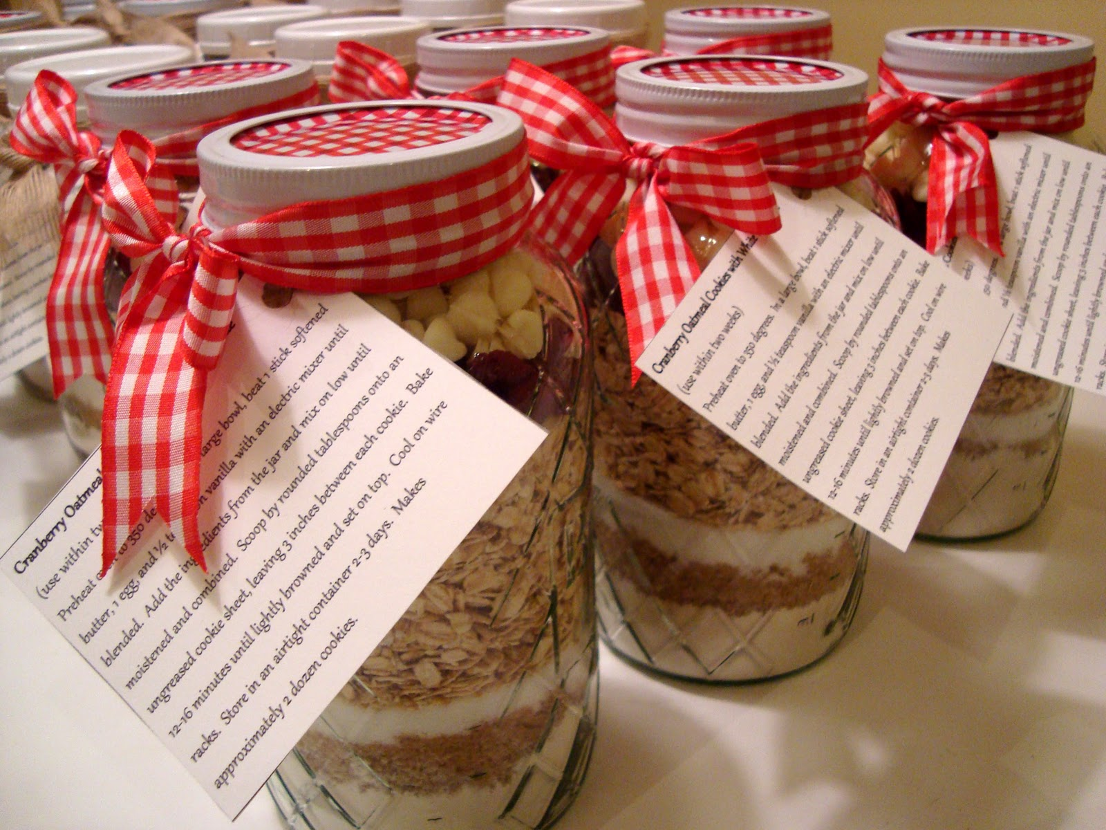 oatmeal cookies in a jar for christmas
