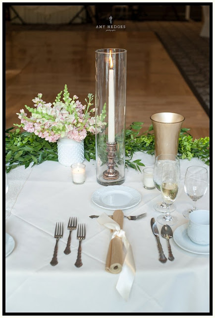 Head Table Decor - River Stone Manor - Scotia NY - Schenectady - Wedding Flowers - Splendid Stems Floral Designs
