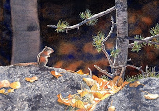 Watercolor - Guarding the Gold by Lorraine Watry