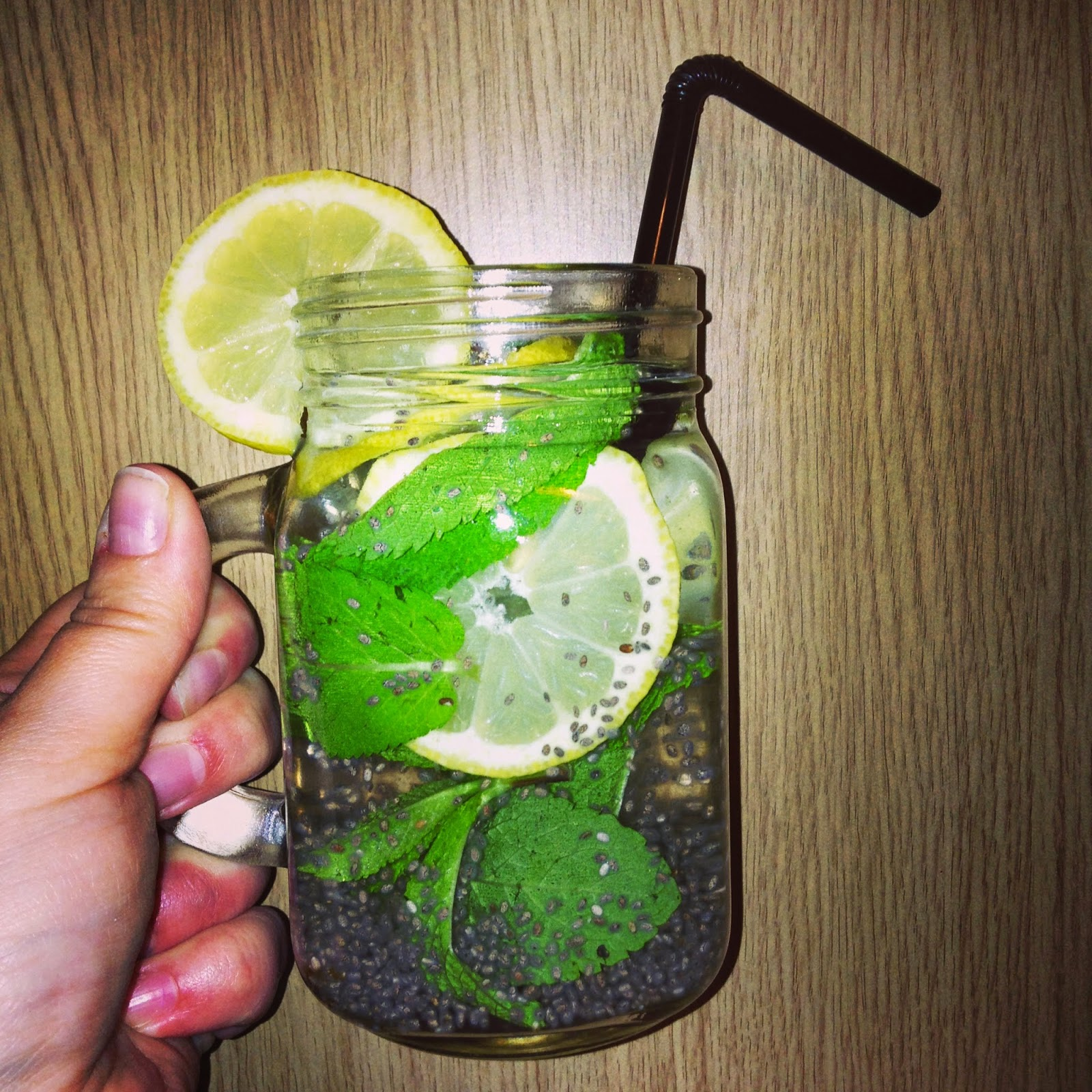 chia lemon and mint fresca