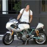 Ryan Reynolds  celeb on motorcycles