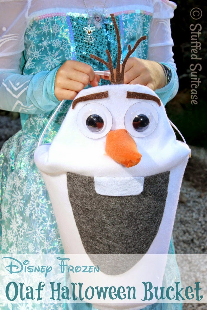 Olaf candy bucket and 32 Kid friendly Halloween ideas, Clever Nest with Hometalk #toddler #roundup