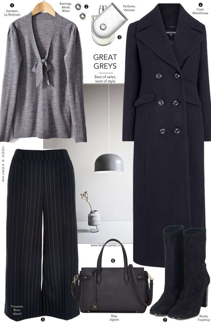 Smart, comfortable and office-friendly outfit idea via www.look-a-porter.com style & fashion blog