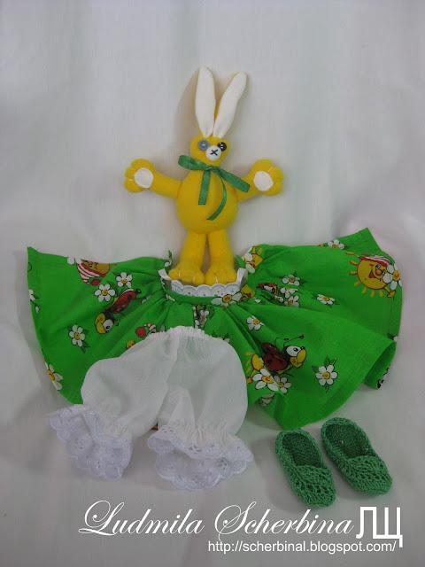 игрушка для куклы зайчик