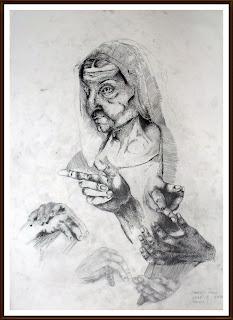 ink drawing enache radu