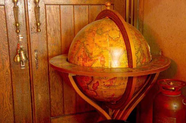 wooden globe