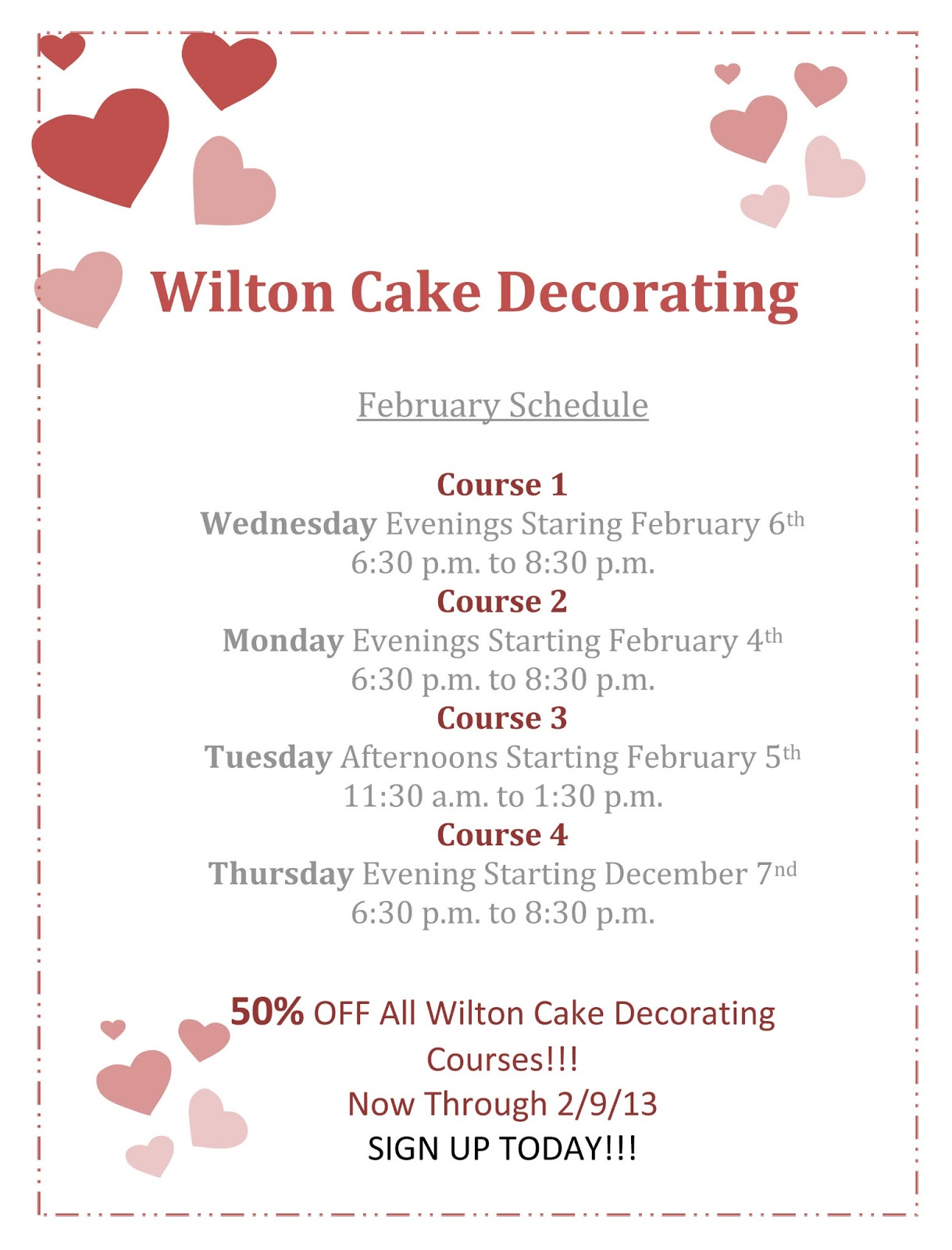 Michaels Cake Decorating Class Sign Up : CakesByNisha: February 2013