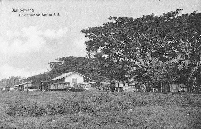 Banjoewangi Railway Station, East Java Indonesia ca.1911