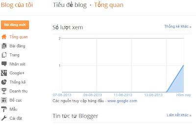 Cách tạo một blog bằng blogspot