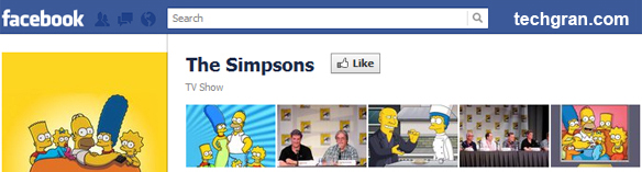 The Simpsons on Facebook, TV Show