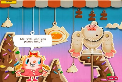Love the Yeti: Yeti Eats Candy (Or Yeti Arcade: Candy Crush Saga)
