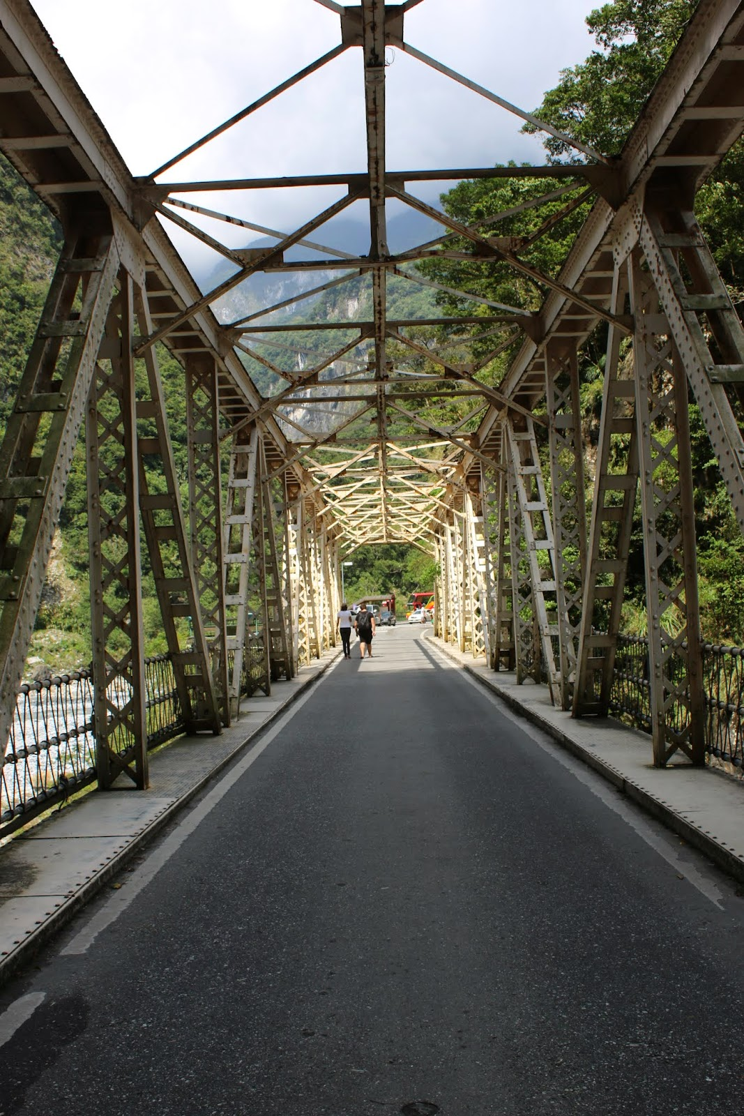 Changchun Bridge  nearby Eternal Spring Shrine at Taroko Gorge National Park in Hualien, Taiwan