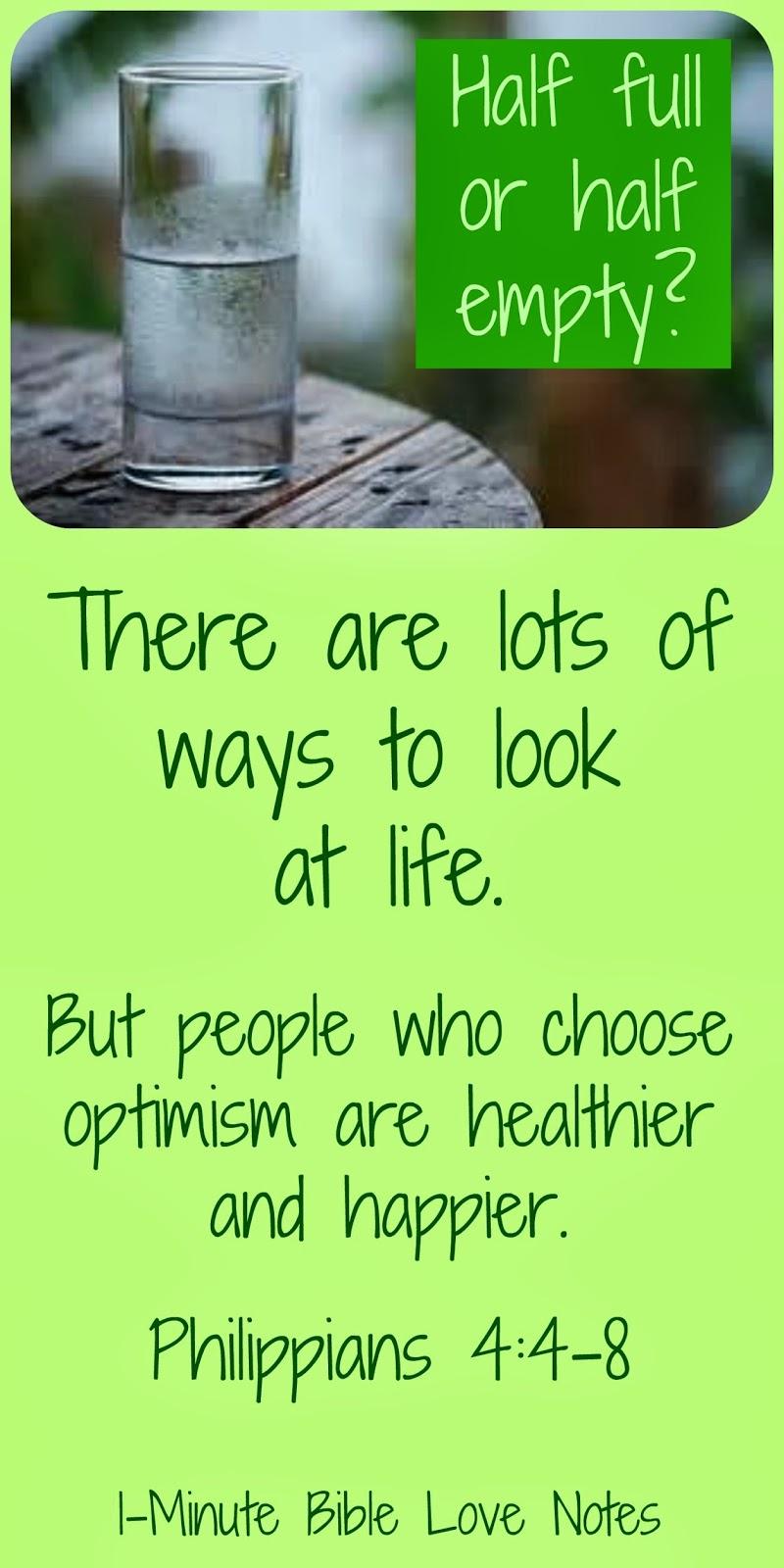 Optimism, Pessimism, Philippians 4:4-8