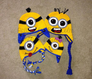 image Minion Crochet Hat Patterns 4 styles