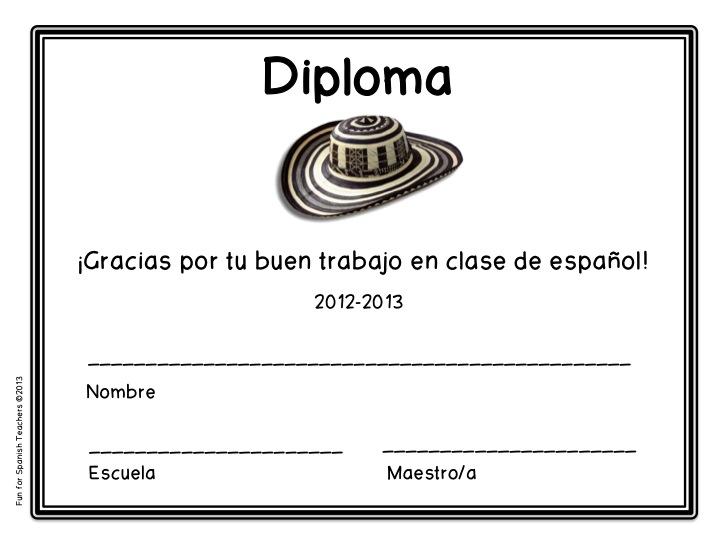 Bilingual teacher clubhouse 5 certificates and diplomas for 5 certificates and diplomas for spanish class freebie yadclub Gallery