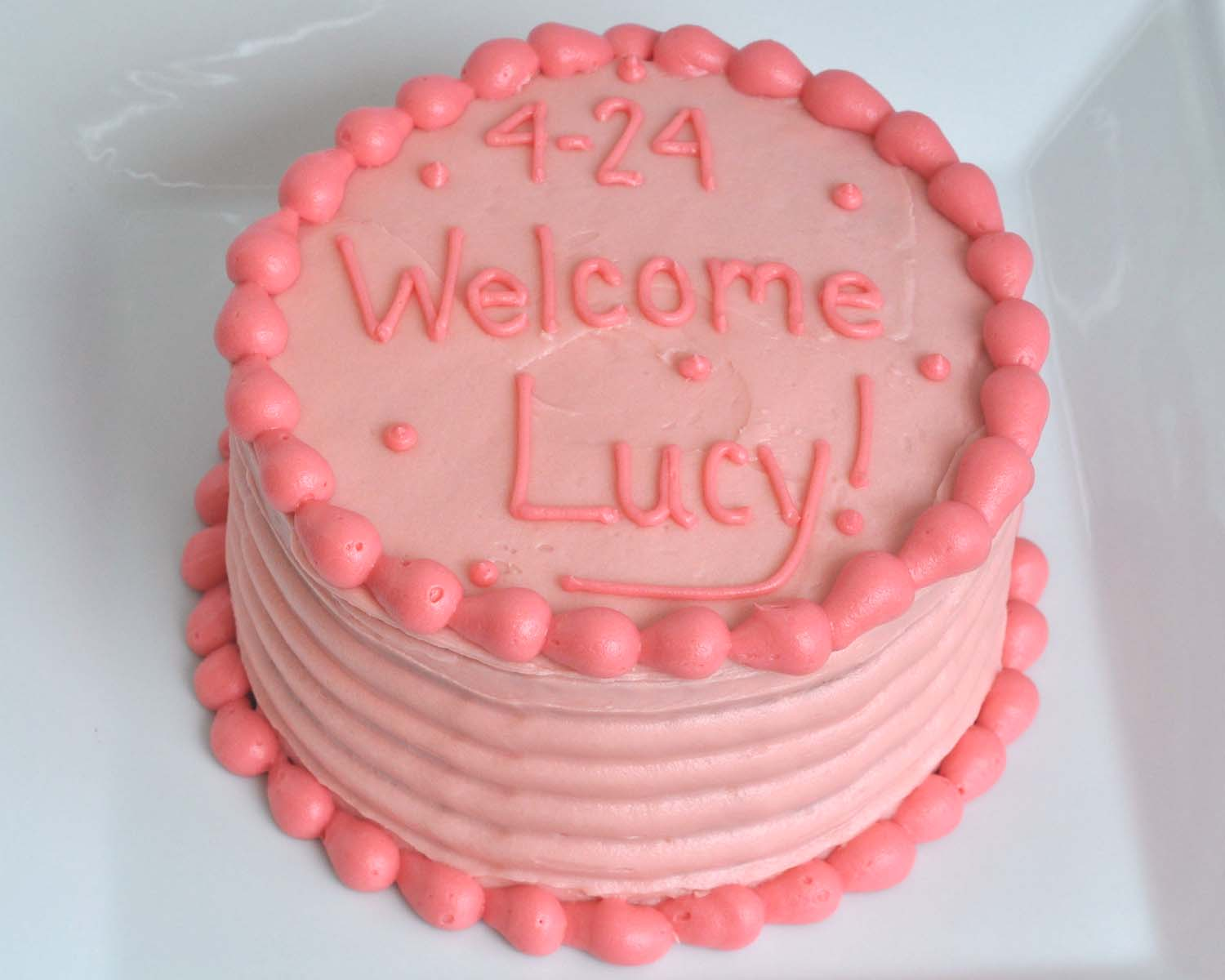Beki cook 39 s cake blog easy pink strawberry cake for Baby cake decoration ideas