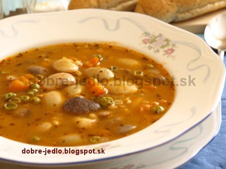 Fazuľová polievka s krúpami - recepty