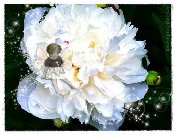 Peony Fairy Art