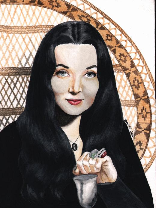 Mortica Addams por reyahawk