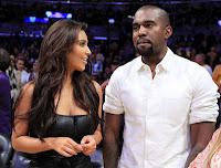 Kim Kardashian with Kanye West watch The basketball game