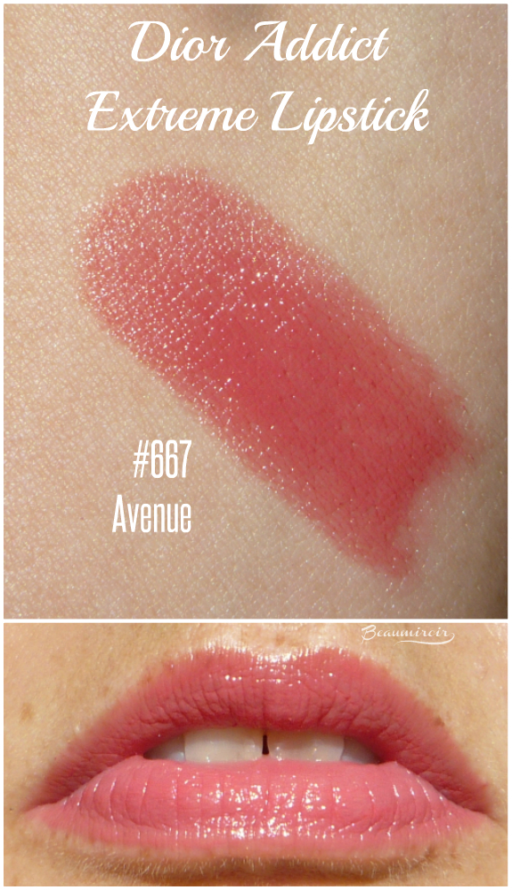 Dior Addict Extreme Lipstick in 667 Avenue lip swatch