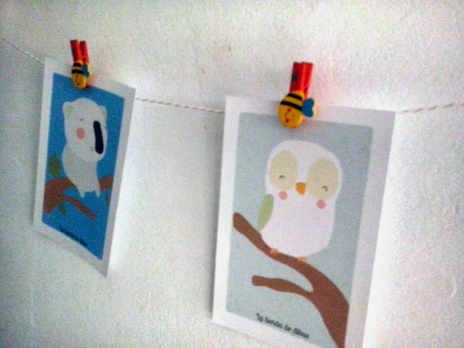 Ideas originales para colgar dibujos e ilustraciones