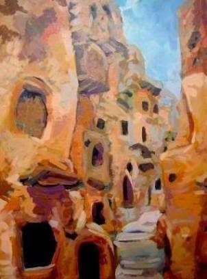 قصر نالوت- مدينة نالوت بجبل نفوسة