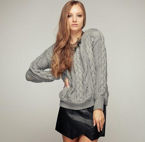 Chunky Twiddle Knit Sweater