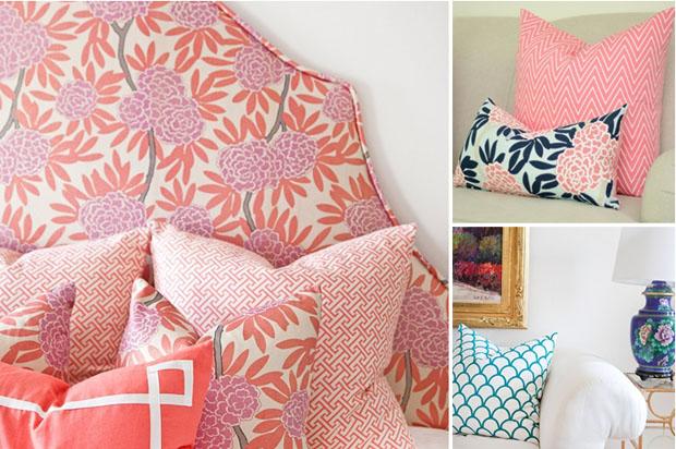 Caitlin Wilson,Textiles,almohadones,Pillow,Covers,fabric,tela,diseño,design,rosa,azul,gris
