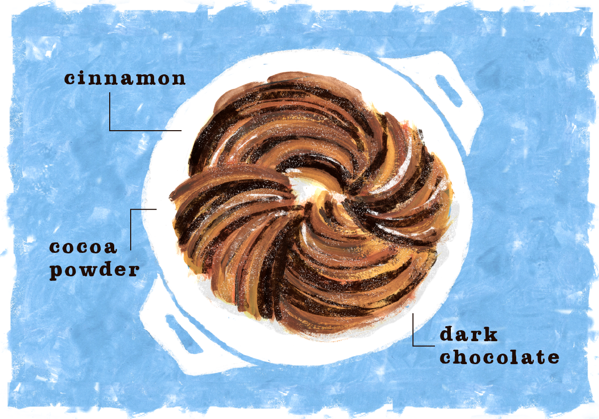 Chocolate Cinnamon Swirl Bread, Lauren Monaco Illustration