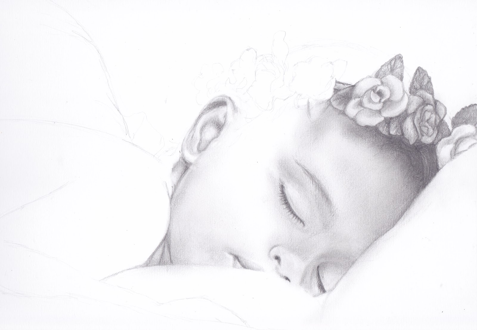 Pencil drawings of baby angels stage 2 sleeping angel pencil drawings of baby angels