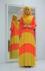 Dress Labuh Lolipop Oren /Kuning