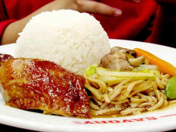 Classic Savory Restaurant: Fried Chicken and Pansit Canton with rice