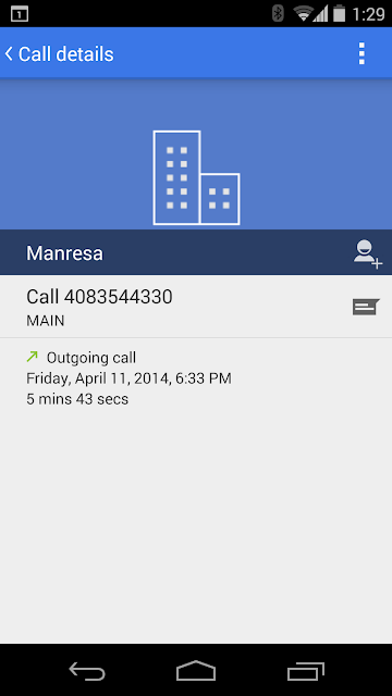 Updated Android dialer app