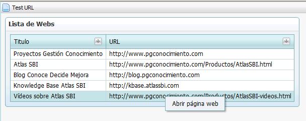 Atlas SBI - Lista de páginas web