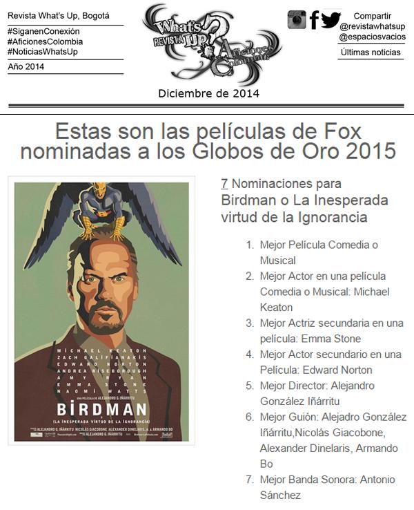 Películas-Fox-nominadas-Globos-Oro-2015