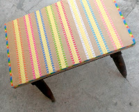 http://creativekhadija.com/2015/12/how-to-decorate-an-old-table-with-washi-tape/