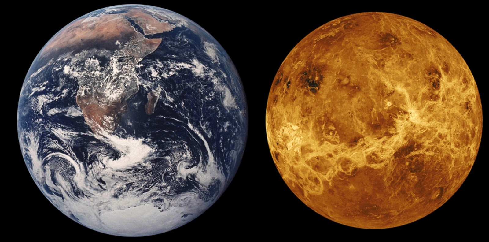 venus compared to earth